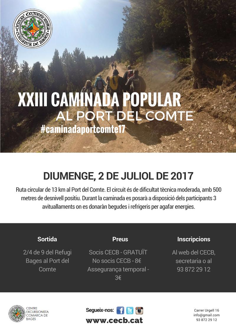 Caminada Popular Port del Comte @ La Coma i La Pedra | Catalunya | Espanya