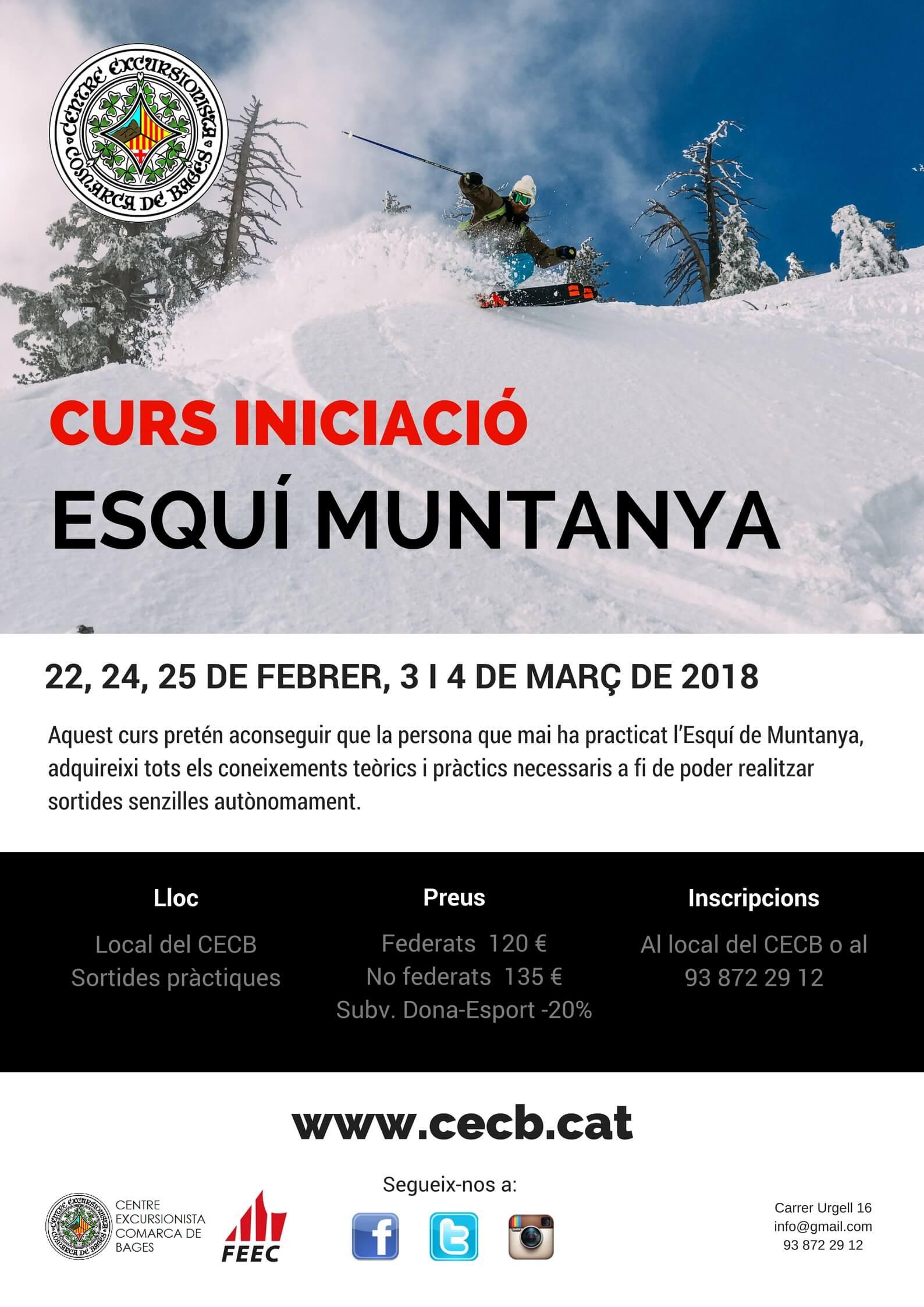 Curs iniciació esquí de muntanya