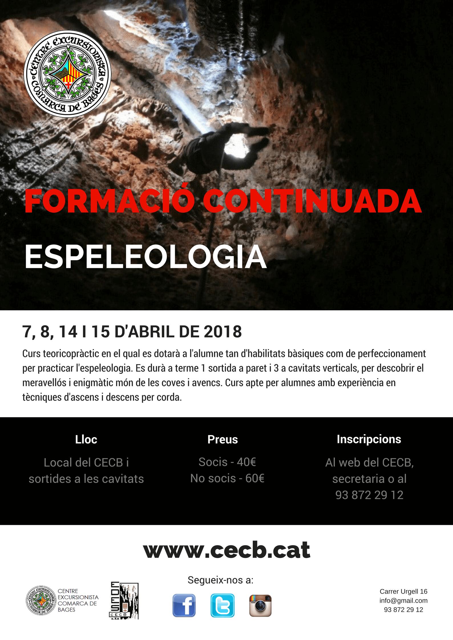Formació continuada espeleologia